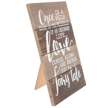 Love Comes Along Wood Decor
